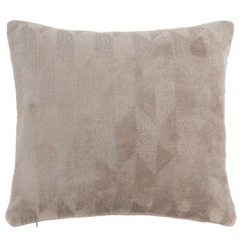 OCEANE - Cushion Cover with Grey Graphic Motifs 40x40 (H40 x W40cm)