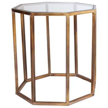 Octagon Side Table, Large - Brass (62 x 57cm)