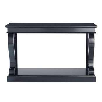 OCTAVIA Birch wood console table in black (81 x 130cm)