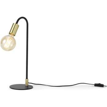Octavia Table Lamp, Black & Brass (H45 x W18 x D15cm)