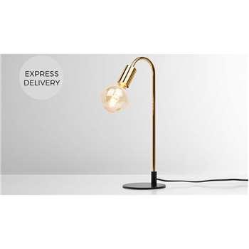 Octavia Table Lamp, Brass (H45 x W18 x D15cm)