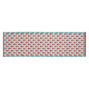 Habitat Octo Cotton Runner - Blue (H75 x W250cm)