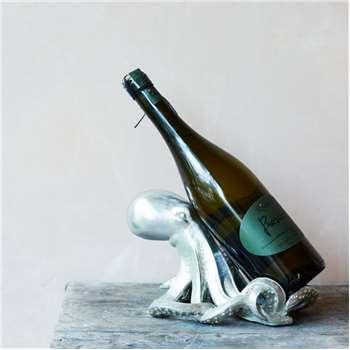 Silver Octopus Wine Holder (H14 x W23 x D17cm)