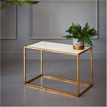 Odell Gold And Marble Coffee Table (49 x 81.5cm)