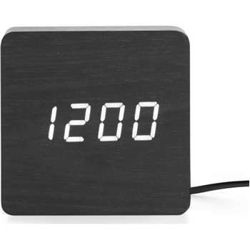 Odette Square Alarm Clock, Black (H8 x W8 x D4cm)