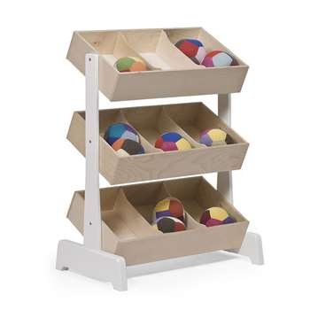 Oeuf Kids Toy Store in White & Birch (H97.8 x W78.8 x D48cm)