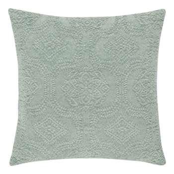 OHAIN - Blue Cotton Cushion Cover with Print (H40 x W40cm)