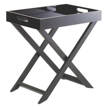 Oken Black Folding Side Table (44 x 40cm)