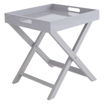 Oken Grey Folding Side Table (H44 x W40 x D40cm)