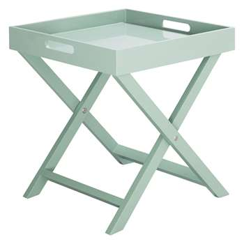 Oken Sage Green Folding Side Table (44 x 40cm)