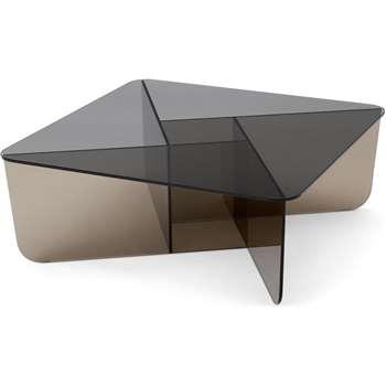 Oki Glass Coffee table (H30 x W80 x D80cm)