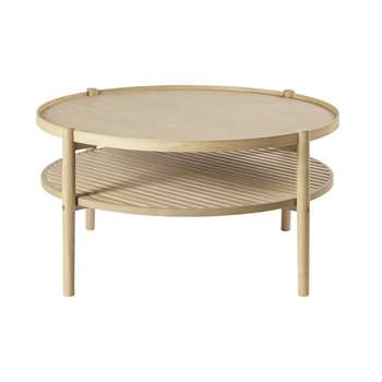 OKINAWA - Round Coffee Table with Two Surfaces (H42 x W80 x D80cm)