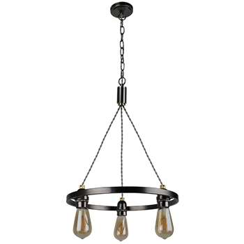 Oku 3 Light Ceiling Light Nickel (H86 x W42 x D42cm)