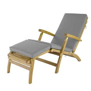 OLÉRON Grey chaise longue mattress (7 x 185cm)