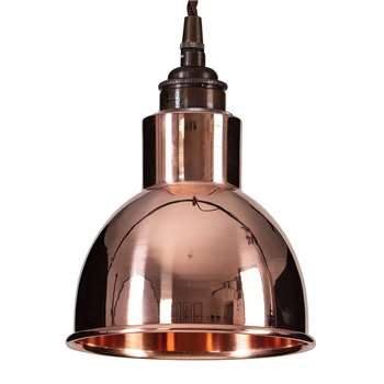 Old School Electric - Churchill Pendant Ceiling Light - Copper (H14.5 x W15 x D15cm)