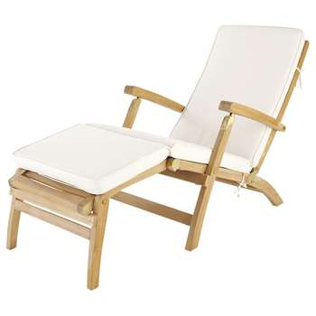 OLÉRON Off-white chaise longue mattress (7 x 185cm)