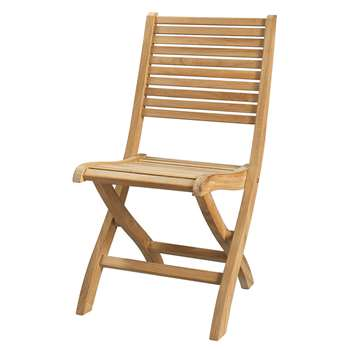 OLÉRON Solid teak folding garden chair