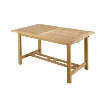 OLÉRON Solid teak garden table (75 x 157cm)