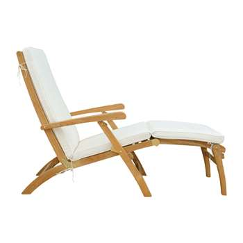 OLÉRON Solid teak steamer chair (98 x 63cm)