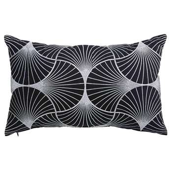 OLIANA cotton cushion with black and white motifs (30 x 50cm)