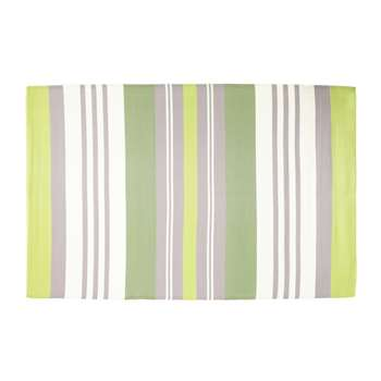OLIVE fabric outdoor rug in green (180 x 270cm)