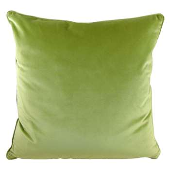 Olive Green Opulence Cushion (H43 x W43cm)