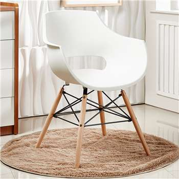 Olivia Dining Chair - Cream (81 x 57.5cm)