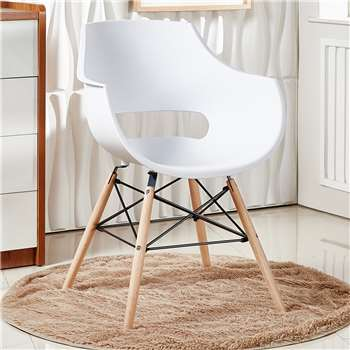 Olivia Dining Chair - White (81 x 57.5cm)