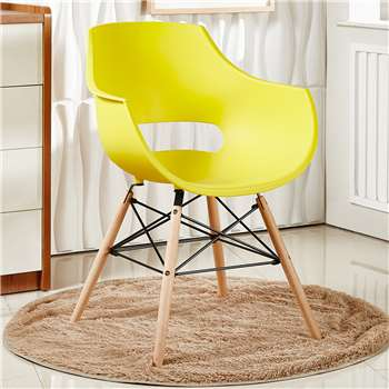 Olivia Dining Chair - Yellow (81 x 57.5cm)