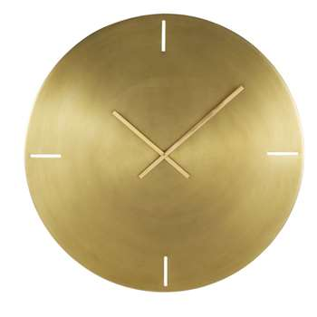 OLYMPE - Gold Brushed Metal Clock (Diameter 76cm)