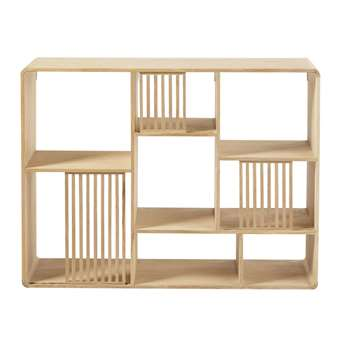 OMBRAGE - Oak Unstructured Shelving Unit (H74.5 x W100 x D25cm)