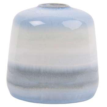 Ombre Blue Ceramic Vase (H15 x W15.5 x D15.5cm)