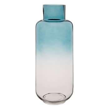 Ombre Blue Glass Vase (H37 x W14.7 x D14.7cm)