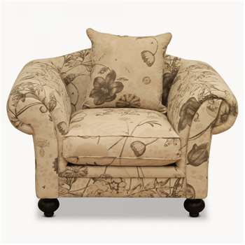 One. World x Kew Fabrics Woodcroft Natural Lounge Chair