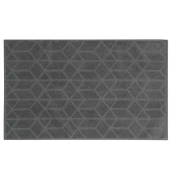 OP ART patterned anthracite cotton bath mat (50 x 80cm)