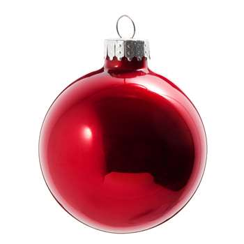 OPAL - Red Tinted Glass Christmas Bauble (H7 x W7 x D7cm)