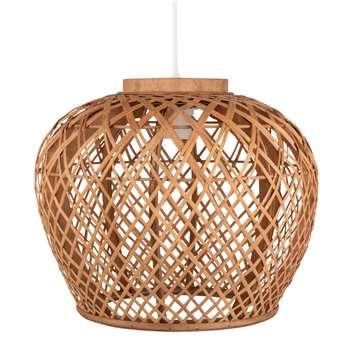Openwork Bamboo Pendant (H29 x W34 x D34cm)