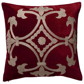 Ophelia Cushion Cover, Large - Cranberry (51 x 51cm)