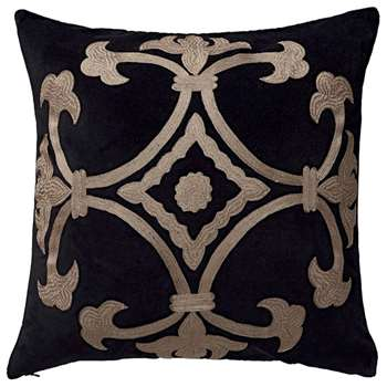 Ophelia Cushion Cover, Large - Nero (51 x 51cm)