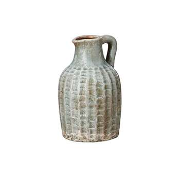 Ophion Decorative Jug, Short - Dark Celadon (21 x 13cm)