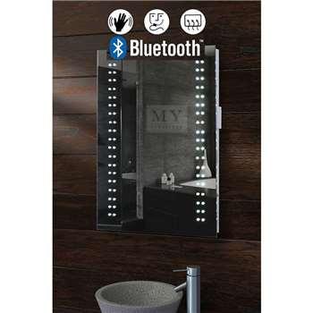 Opticon Illuminated LED Bluetooth Bathroom Mirror (60 x 50cm)