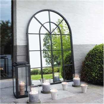 ORANGERIE Metal Mirror in Black (H135 x W92 x D3cm)