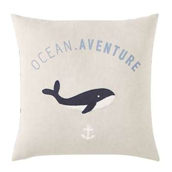 ORCALA Dual-Tone Printed Cotton Cushion (H40 x W40 x D10cm)