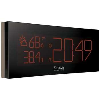 Oregon Scientific Prysma Chrome Weatherstation Alarm Clock, Black (20 x 22cm)