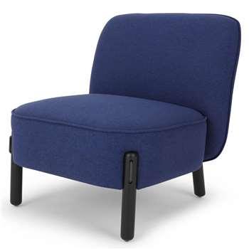 Ori Accent Chair, Cobalt (H72 x W66 x D70cm)