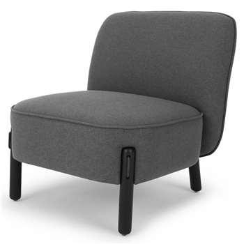 Ori Accent Chair, Marl Grey (H72 x W66 x D70cm)
