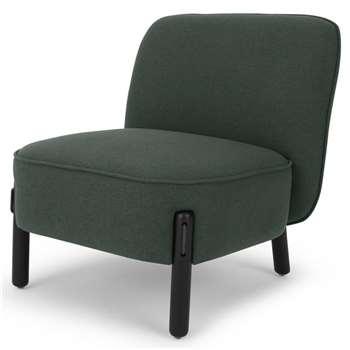 Ori Accent Chair, Woodland Green (H72 x W66 x D70cm)