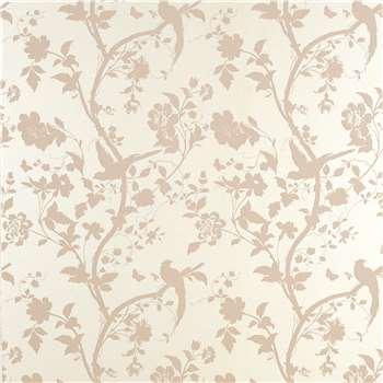 Oriental Garden Chalk Pink Floral Wallpaper