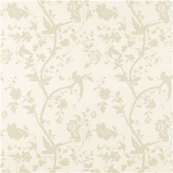 Oriental Garden Gold/Off White Floral Wallpaper