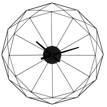 ORIGAMI - Black Metal Clock (Diameter 80cm)